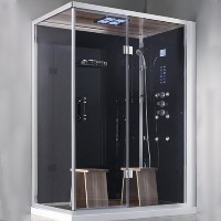"Zen Brand New 2 Person Right Hand Rectangular Walk In Corner Shower - 59"" x 36"" x 89"""