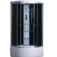 Shower Enclosure w/ 6 Steam Jets & Rainfall Showerhead