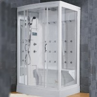 "Brand New Walk In Steam Shower 52"" x 40"" x 86"""