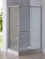 Nifty & New Simplicity Square Glass Shower Enclosure w/ Base