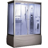 Zen Brand New Steam Shower w/ Jetted Tub & 6 Acupuncture Jets