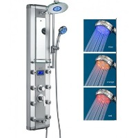 Zen Brand New Tri Color LED Massaging Shower Panel System