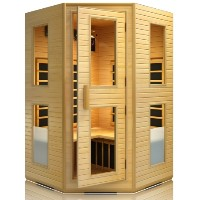 Brand New 3-4 Person Far Infrared Carbon Heater Corner Sauna