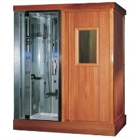 "Zen Brand New Walk In Steam Shower & Sauna - 71"" x 48"" x 87.4"""