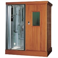 "Zen Brand New Walk In Steam Shower & Sauna - 71"" x 47.6"" x 87.4"""