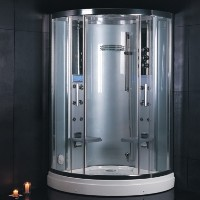 "Zen Brand New Indulgent Walk In Steam Shower - 47"" x 47"" x 87"""