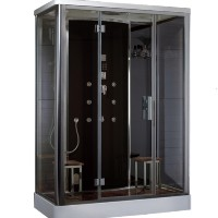 Zen Brand New Computerized Modern Walk In Steam Shower