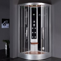 "Zen Brand New Computerized Contemporary Walk In Steam Shower 39.4"" x 39.4"" x 89"""