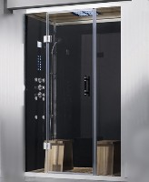 "Zen Brand New 2 Person Left Hand Retrofit Walk In Corner Steam Shower - 59"" x 32"" x 87"""