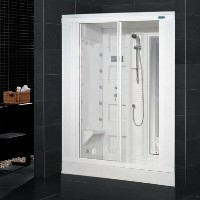 "Zen Brand New Retrofit Walk In Steam Shower - 59"" x 31"" x 85"""