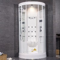 "Zen Brand New Walk In Steam Shower - 40"" x 40"" x 85"""