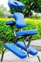 "3.5"" Blue Foam Portable Massage Chair"