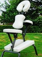 "3.5"" Creme Foam Portable Massage Chair"