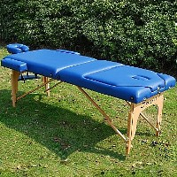 "Blue Soozier 3"" Thick Portable Massage Table"