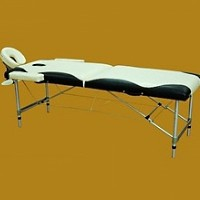 Black/White Aluminum Portable Massage Table