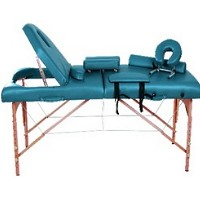 "Dark Green Soozier 3"" Thick Portable Massage Table"