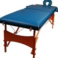 Dark Green Portable Massage Table Bed