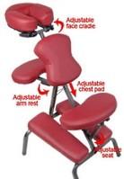 """3"""" Supreme Burgundy Metal Portable Massage Chair"""