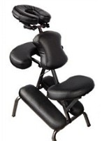 "3"" Supreme Black Metal Portable Massage Chair"