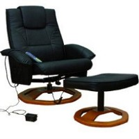 Remote Control TV Recliner Massage Chair with Ottoman i3128 - Black