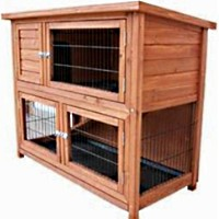 High Quality Bi-Level Rabbit / Small Animal Hutch