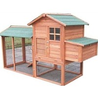High Quality Honey Comb Wood Stain Chicken Coop House