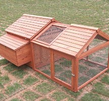 High Quality Backyard Chicken Coop House with Double Run ( 9 FT Long )