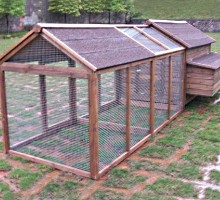 High Quality Chicken Coop House with Double Run