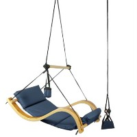 High Quality Wooden Chair Swing - Blue