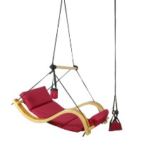 High Quality Wooden Chair Swing - Burgundy