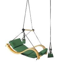 High Quality Wooden Chair Swing - Green