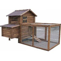 High Quality Chicken Coop House with Run & Grooved Treated Fir Timber