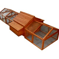 High Quality Chicken Coop House with Double Nesting Box & Triple Run