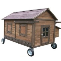 High Quality Mobile Chicken Coop House with 4 Internal Perches
