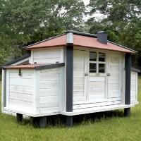 Backyard Chicken Coop Wood Hen Duck Rabbit House - RC-82