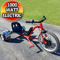 1000 Watt Electric Drift Trike - Lithium Battery & Disc Brakes