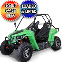150cc Enforcer UTV Golf Cart Utility Vehicle W/Custom Rims/Tires