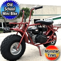 Offroad Old School Mini Bike Trail 200cc 6.5 HP With Monster Oversized Tires