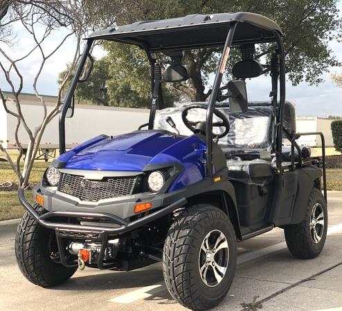 400cc GVX Gas Golf Cart UTV 4x4 With Rear Flip Seat Street Legal Light  Package All Wheel Drive