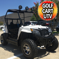 Brand New Gas Golf Cart UTV Hybrid 150cc Utility Vehicle W/Lights & Custom Rims/Tires