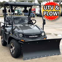 200cc UTV With Snow Plow ATV Gas Golf Cart Utility Vehicle Snow Master GVX
