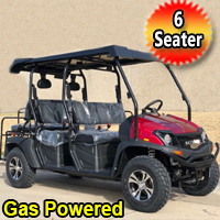 Gas Golf Cart 6 Seater Outfitter EFI Utility Vehicle Fuel Injected UTV 2WD/4WD - CAZADOR LIMO 400EFI
