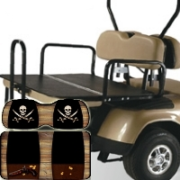 EzGo TXT & RXV Elite 2-in-1 Flip Bottom Rear Seat Kits - Envy Series