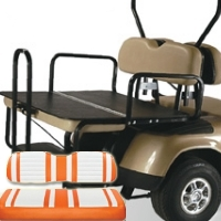 EzGo TXT & RXV Elite 2-in-1 Flip Bottom Rear Seat Kits - Extreme Series