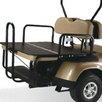 EzGo TXT & RXV Elite 2-in-1 Flip Bottom Rear Seat Kits - Factory Colors