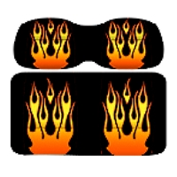 Ez-Go TXT & RXV DoubleTake Envy Series Vintage Flame Replacement Front Seats
