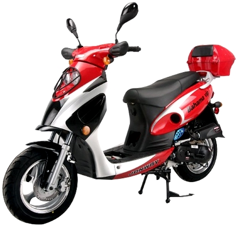 bahama 50cc qt 6 4 stroke air cooled moped scooter. Black Bedroom Furniture Sets. Home Design Ideas