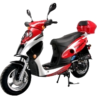 BAHAMA 50cc QT-6 4-Stroke Air-Cooled Moped Scooter