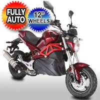 "50cc Rocket Sport Motorcycle MotorScooter With Elec. Start & 12"" Wheels Model QT-10"