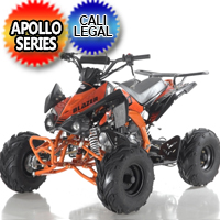 125 Atv Apollo Series Blazer 9 125cc Fully Automatic w/Reverse Sport ATV Four Wheeler - Blazer 9